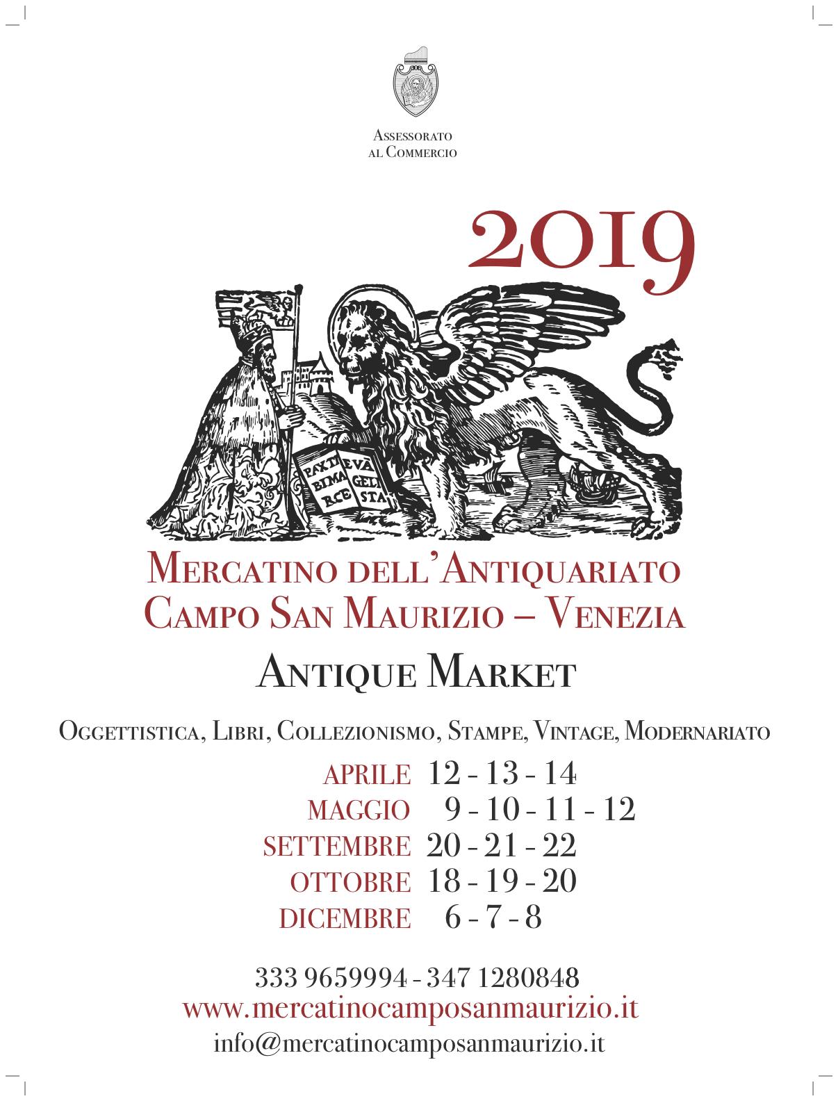 Calendario Mercatini Antiquariato.Mercatino Campo San Maurizio Venezia